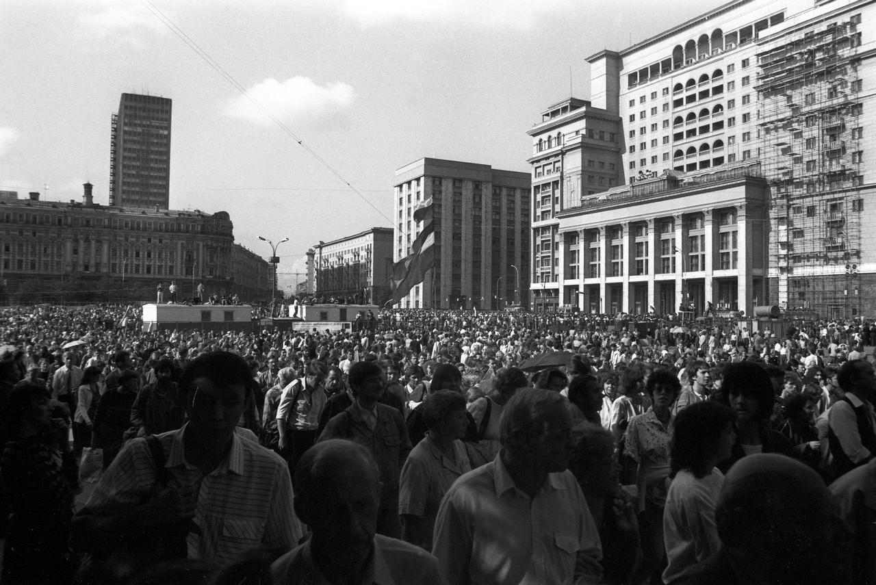 22 августа_Многотысячная демонстрация проходит по Манежной площади