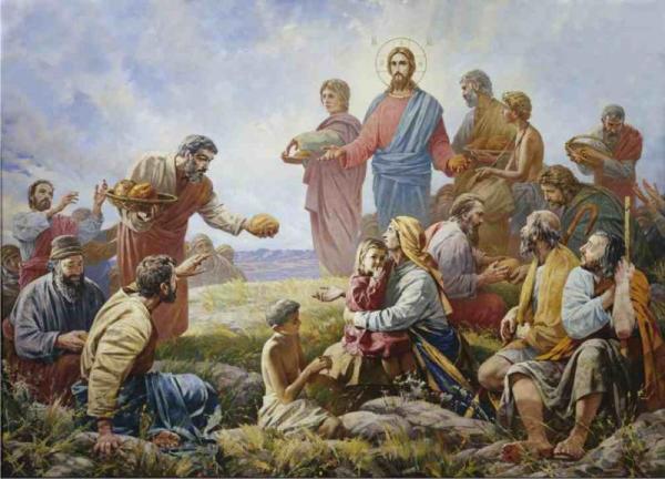 «Чудесное умножение хлебов» Патриаршая трапезная Храма Христа Спасителя