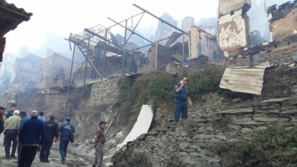 МЧС: Погорельцам изсела Мокок Цунтинского района окажут финансовую помощь