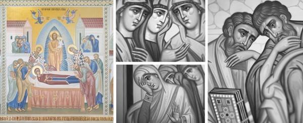 Фреска из церкви села Истомино (слева) и фото Дмитрия Трофимова