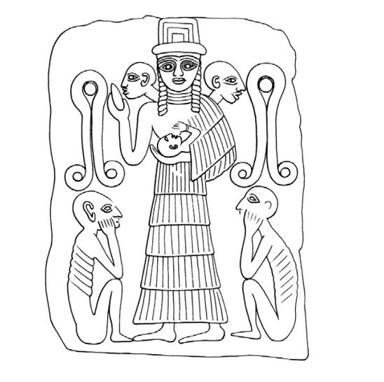 Богиня Нинхурсаг и нерожденные дети
