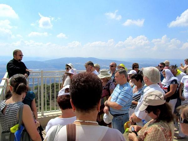 паломники на горе Фавор