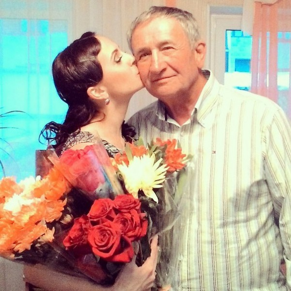 Нина Маляренко с отцом