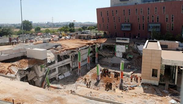 Опубликовано видео трагического обрушения паркинга в Тель-Авиве
