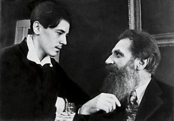 Сигурд Шмидт с отцом. 1934 год