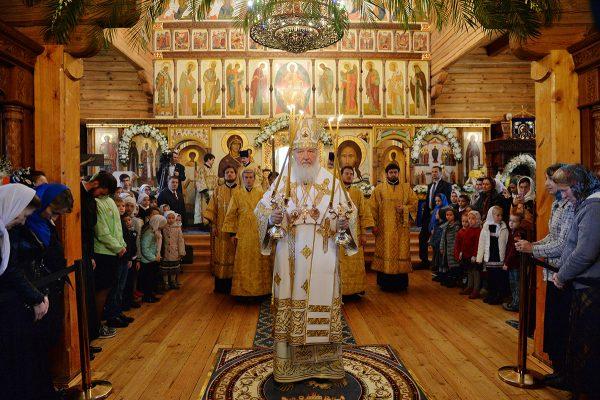 Патриарх Кирилл освятил Покровский храм подворья Зачатьевского монастыря