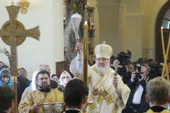 Патриарх Кирилл освятил храм Архангела Михаила в деревне Белоусово