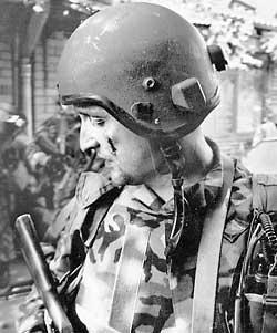 Подполковник Олег Ильин за полчаса до гибели в Беслане.