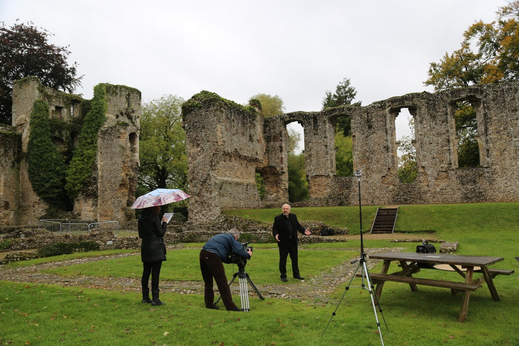 руины английского замка