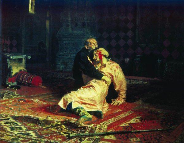 Иван Грозный и сын его Иван 16 ноября 1581 года. Картина Ильи Репина, 1885