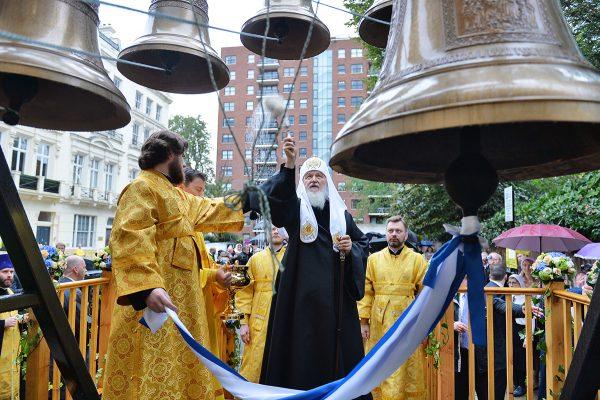 Патриарх Кирилл освятил Успенский собор Сурожской епархии