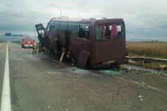 На трассе «Кавказ» автобус врезался в автопоезд, есть жертвы