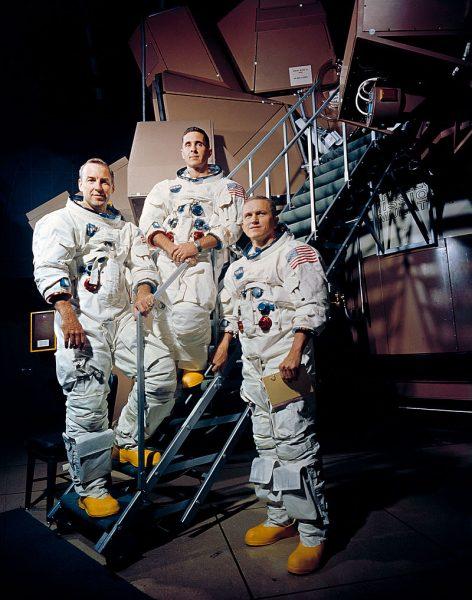 """Экипаж """"Аполлон-8"""": Джеймс Ловелл, Вильям Елисон Андерс, Френк Борман"""