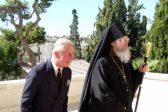 Принц Чарльз посетил усыпальницу своей бабушки в русском монастыре Иерусалима