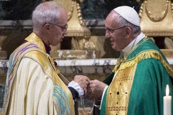 Папа Франциск и Джастин Уэлби разбили епископов по «экуменическим парам»
