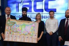 Представлена первая настенная карта «Православная Россия»