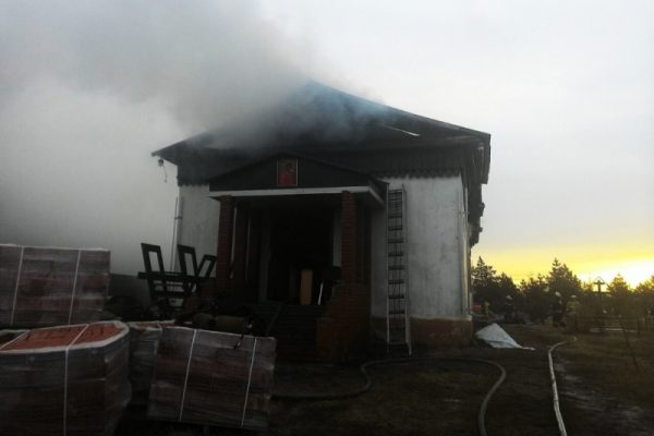 В Омской области загорелся храм Архистратига Михаила