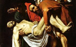 Микеланджело Меризи (Караваджо). Положение во гроб. 1603-1604. Музеи Ватикана