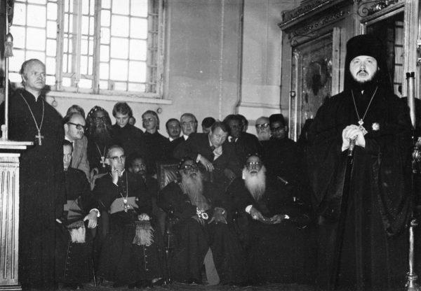 Встреча иностранной делегации. Ленинград, 1970-е гг.