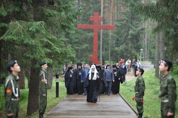 Посещение мемориального комплекса «Катынь». Смоленская область. Июль 2012 г.