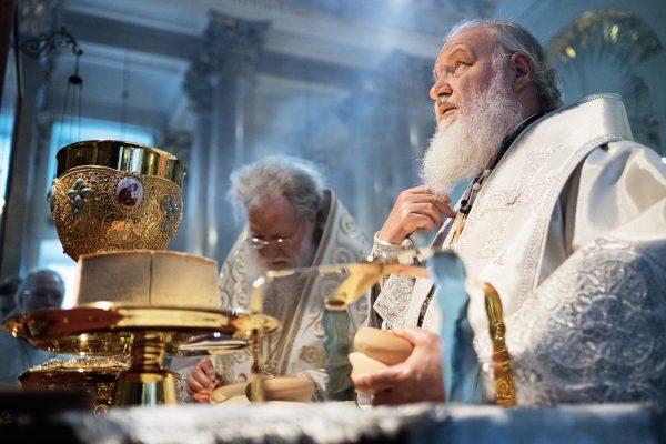 Служение Божественной литургии с Патриархом Болгарским Неофитом в кафедральном Казанском соборе Санкт-Петербурга. 29 мая 2014 г.