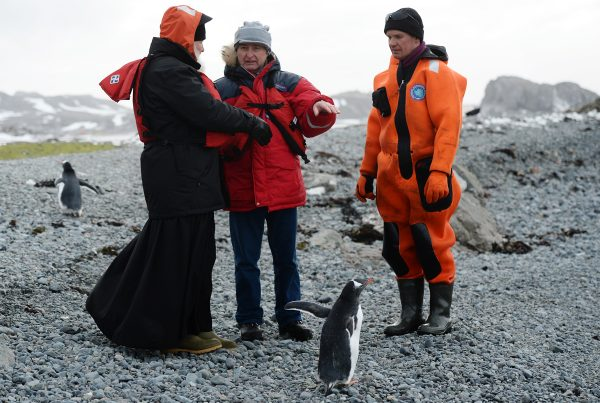 Посещение научной станции «Беллинсгаузен». Антарктика, остров Ватерлоо. 17 февраля 2016 г.