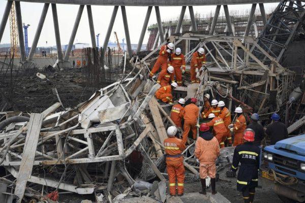 Почти 70 человек погибли при аварии на строящейся электростанции в Китае