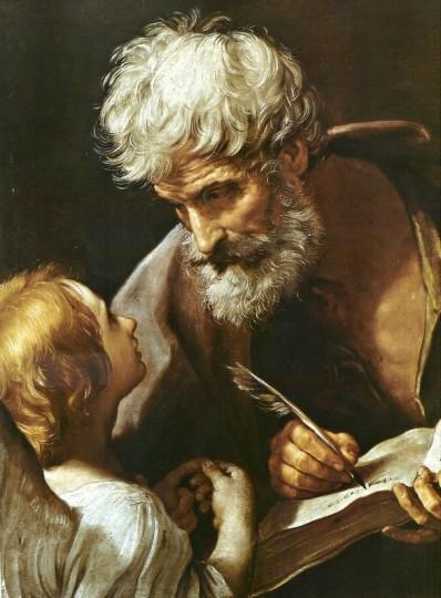 Гвидо Рени. Святой Матфей и ангел. Около 1620  Холст, масло. 85x68 cм. Фото: Музеи Ватикана