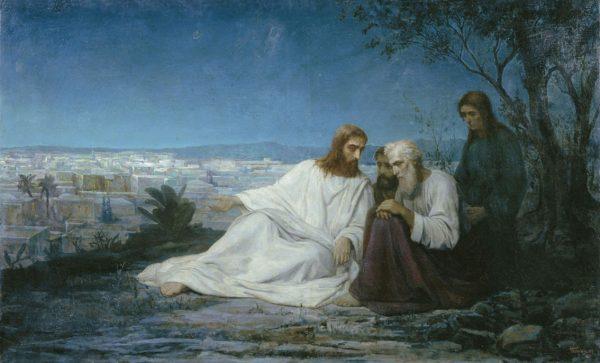"""""""Беседа Христа с учениками"""". М.Боткин"""