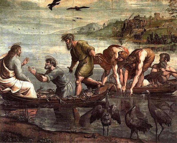 """""""Чудесный лов рыбы"""". Рафаэль"""