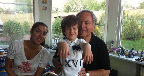 С дочкой Машей и внуком Кириллом