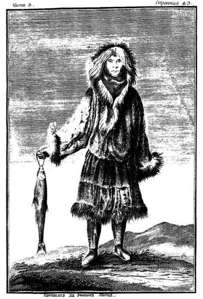 «Камчадал в зимнем платье». Гравюра с рисунка И.Х. Беркана