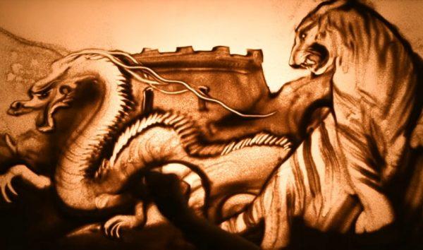 В Китае издадут книгу «песочной» художницы Ксении Симоновой