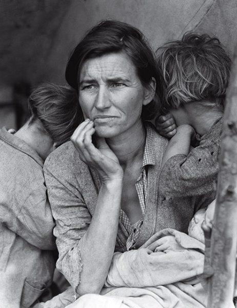 Доротея Ланж. Мать-мигрантка. 1936. «Вы видите в ее лице все, что хотите. Она бессмертна», – Рой Страйкер (FSA).