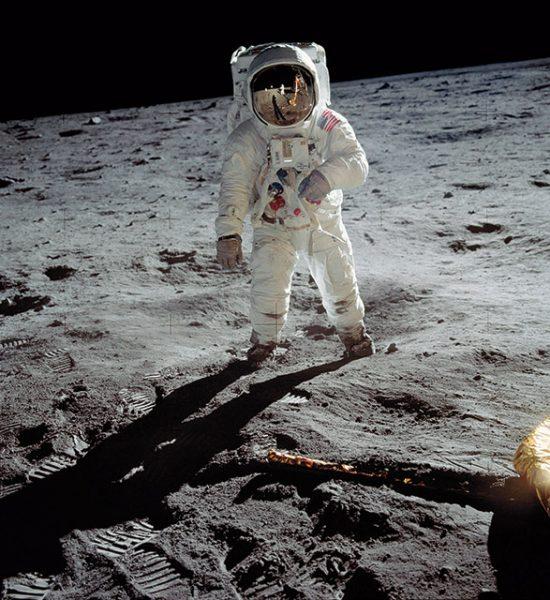 Нил Армстронг. Человек на Луне. 1969. «Это действительно поразительный снимок, запечатлевший совершенно сказочный момент», – Базз Олдрин.