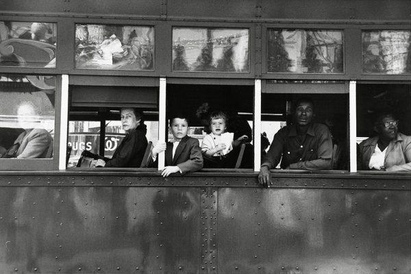 Роберт Франк. Троллейбус в Новом Орлеане. 1955.
