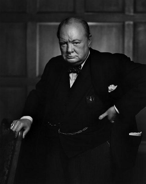 Юсуф Карш. Уинстон Черчилль. 1941. «В силе и мощи черт лица Черчилля застыло решение английского народа», – Петер Поллак, историк.
