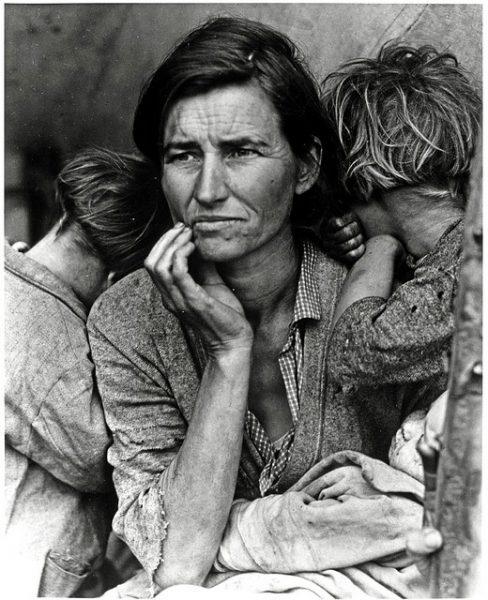 """""""Мать мигрантка"""". Фото Доротеи Ланж"""