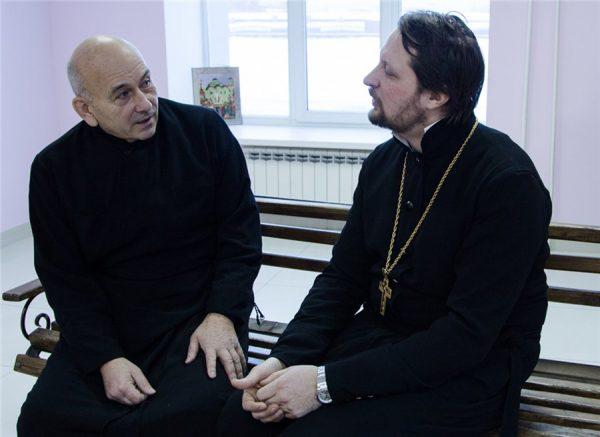 Владимир Сквроцов и отец Георгий