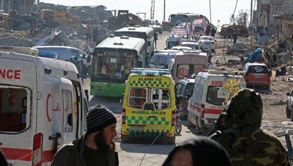 Вывод боевиков из восточных районов Алеппо завершен