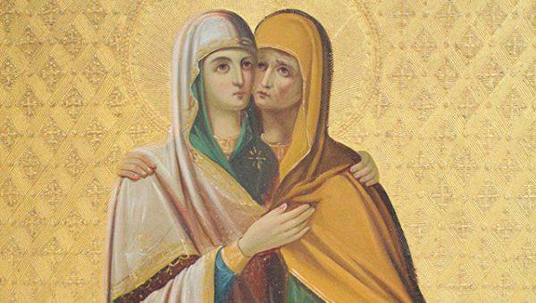В Петербург из Святой Земли привезли редкую икону «Целование Мариино»