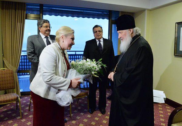 На встрече Святейшего Патриарха с российскими соотечественниками в Турции. Фото: Фейсбук протоиерея Николая Балашова