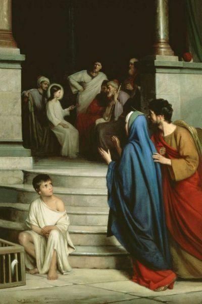 Карл Блох «Отрок Иисус в храме»
