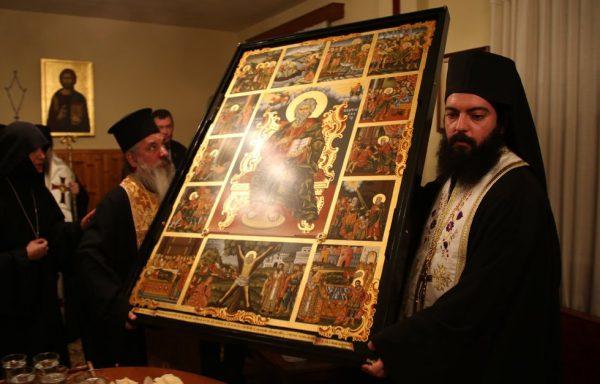 Греция передала России икону апостола Андрея с частицей мощей
