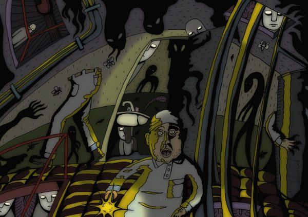 """Рисунок Алексея Лаврентьева. Проект """"Голоса"""""""
