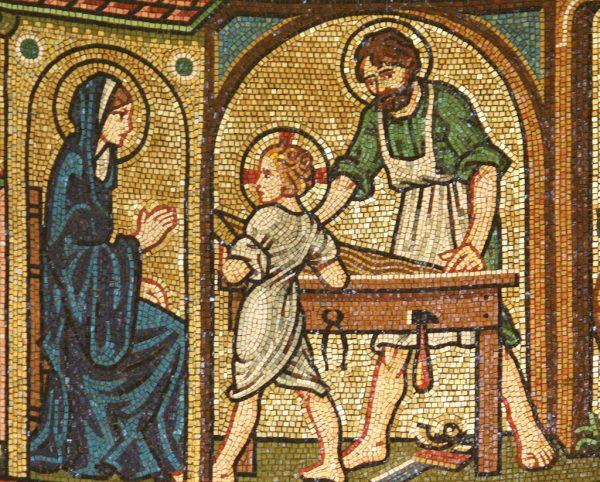 Фрагмент мозаики в Вестминстерском соборе