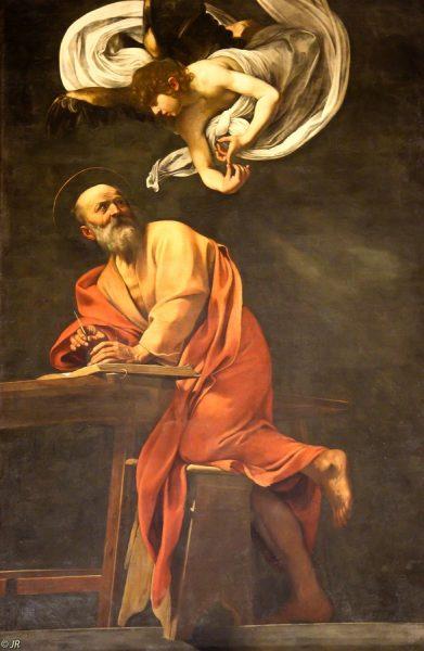 Караваджо. Святой Матфей и ангел