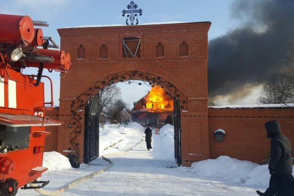 Сестринский корпус и домовая церковь сгорели в Калужской области