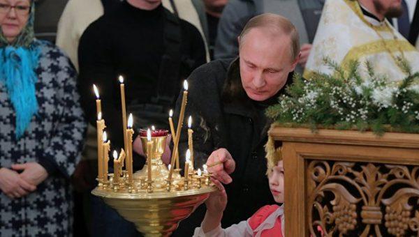 Президент России поздравил православных с Рождеством Христовым