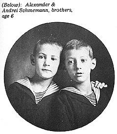 Андрей и Александр Шмеманы. 1932 г. Фото: schmemann.org